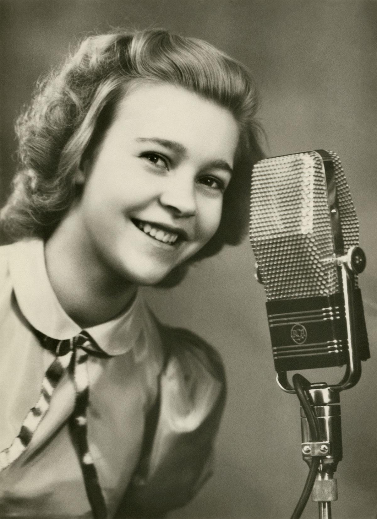Alice Babs, 1939. Foto: Okänd/Svenskt visarkiv