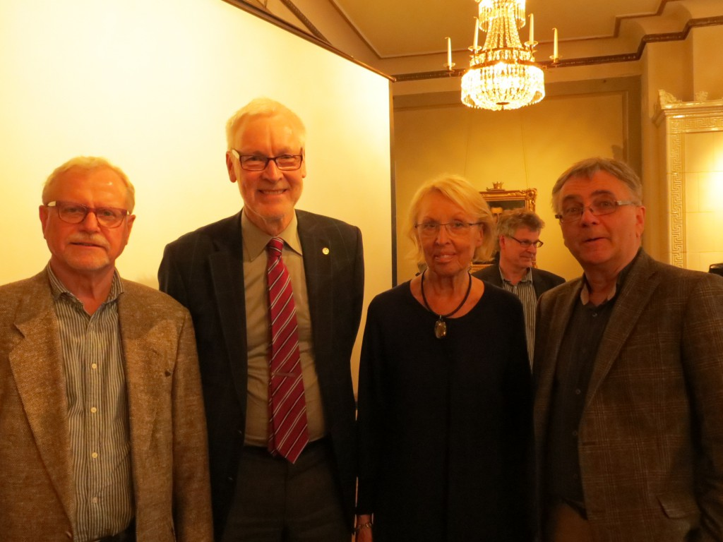 Arrangörerna Anders Hammarlund, Gunnar Ternhag, Märta Ramsten och Dan Lundberg.