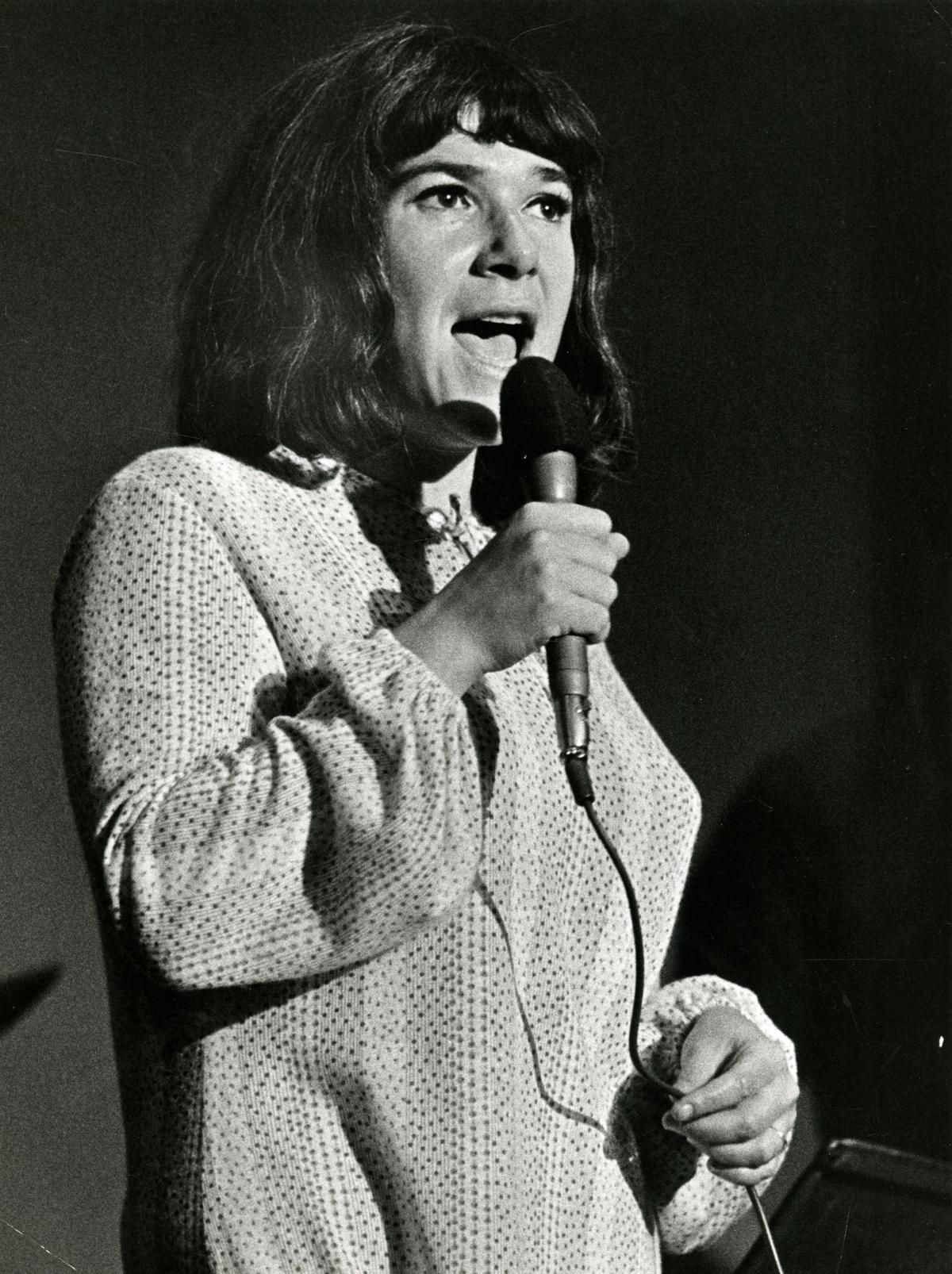 Nannie Porres på Stockholmsterassen hösten 1969. Foto: Christer Landergren