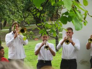 Bymusiker i Zengövárkony. Foto: Ingrid Åkesson