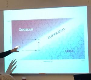 """Susanne Rosenberg demonstrerar """"flowkanalen"""". Foto: Karin Strand"""