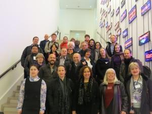 Deltagare i ICTM-symposiet. Foto: Chloe Lukasiewicz.