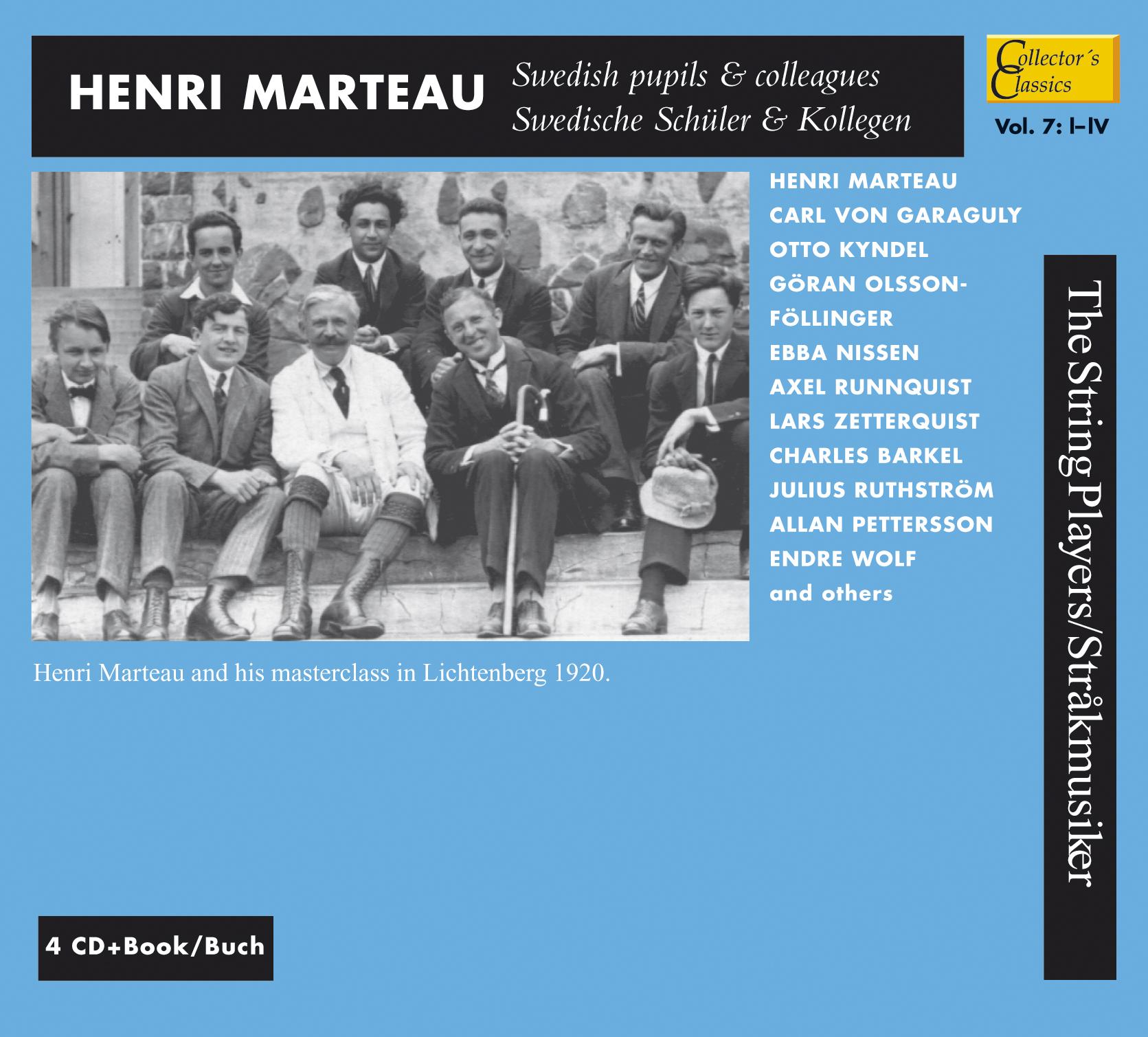 Henri Marteau, svenska elever och kolleger vol. 7