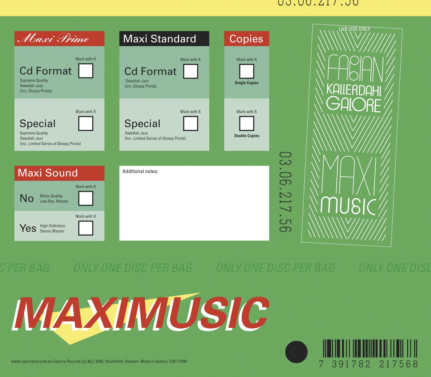 Fabian Kallerdahl Galore: Maxi Music