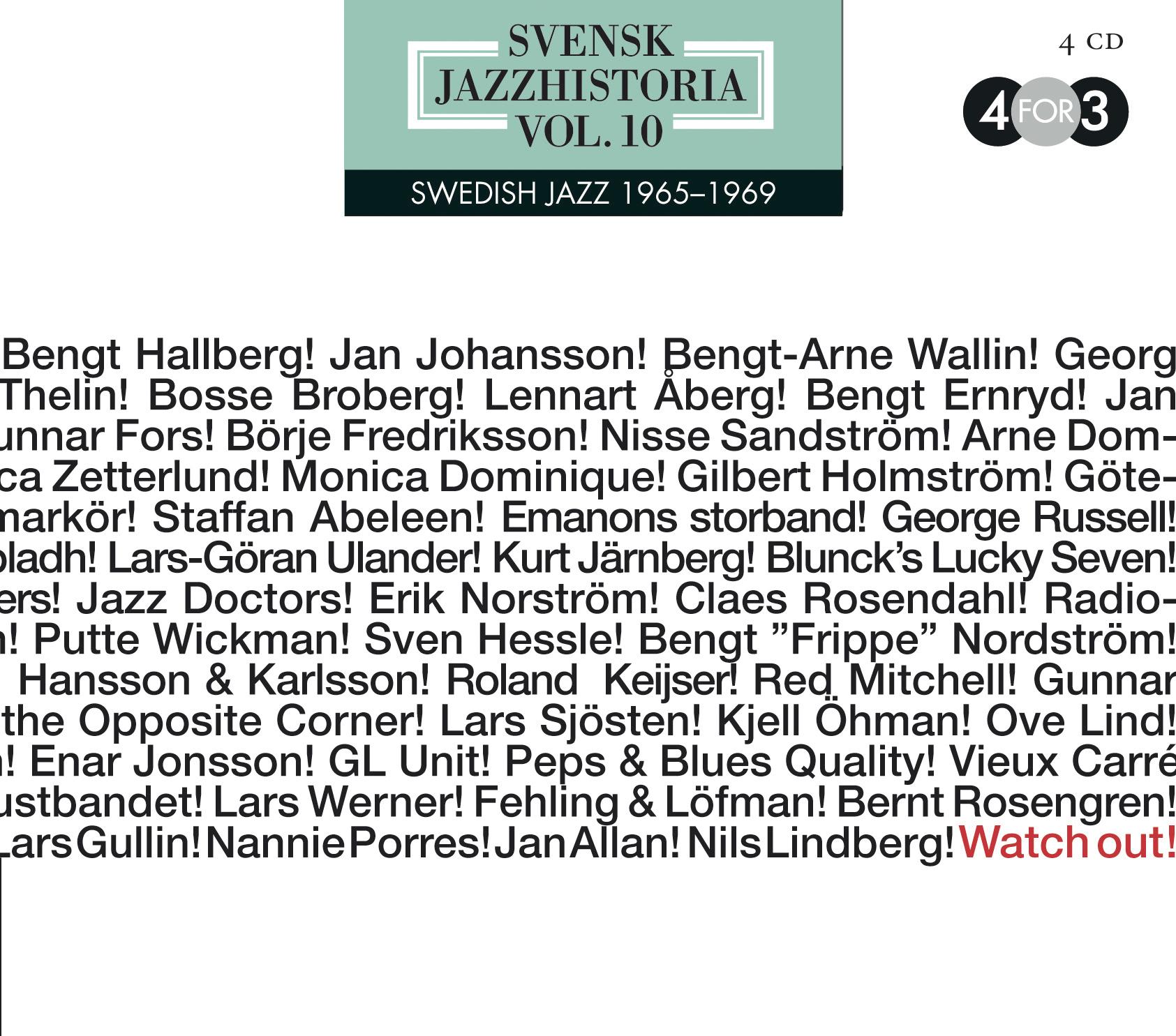 Svensk jazzhistoria vol. 10, 1965-69