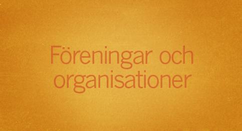 Föreningar och organisationer
