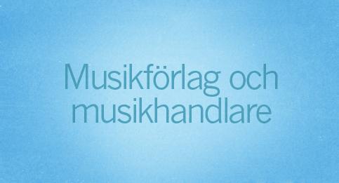 Musikförlag och musikhandlare