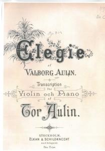 Bild på titelblad till Elegie av Valborg Aulin