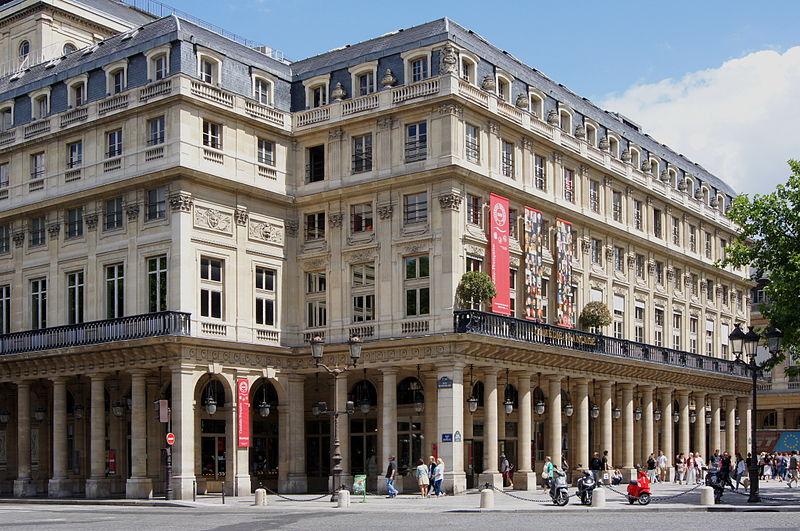 Utsidan av Comédie-Française, Salle Richelie vid Place Colette i Paris.