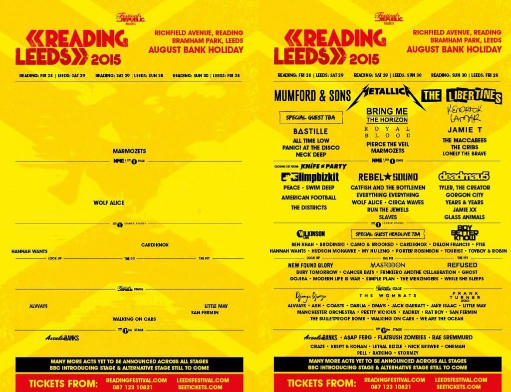 Affischen till Reading/Leeds Festival
