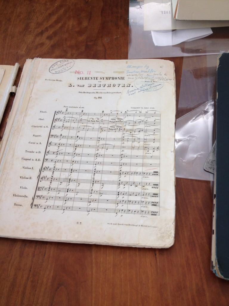 Partitur till Beethovens 7 symfoni. Foto: Lena Nettelbladt