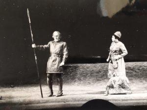 Erik Saedén och Gunilla af Malmborg vid Kungliga teaterns jubileumsföreställning av Arnljot 1967.