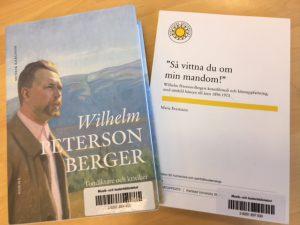 Exempel på litteratur om Peterson-Berger som finns att låna från biblioteket.