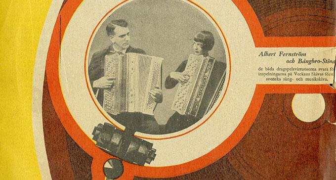 Lyssna på dragspelsmusik ur Musikverkets arkiv