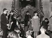 Bernt Rosengren, Lalle Svensson, Leif Wennerström, Torbjörn Hultcrantz, Nannie Porres och Claes-Göran Fagerstedt, Historiska museet, Stockholm, maj 1967