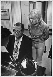 Marlene Widmark och Teddy Wilson, EMI studio, Stockholm, 1970