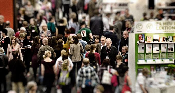 Bokmässan lockade cirka 100000 besökare 2011. Foto: Adam Lundquist