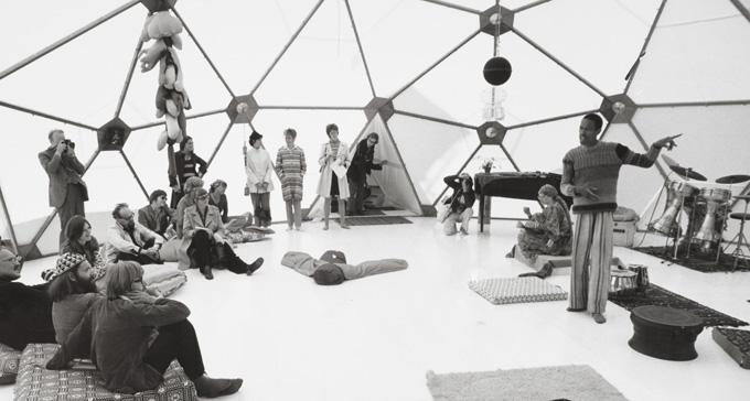 Don Cherry i Bucky Dome 1971. Foto: Erik Cornelius/Moderna Museet
