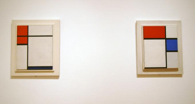 En annan typ av minimalism, målningar av Piet Mondiran. Foto: Sabel/Flickr (CC)