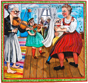 Bröllopsdansen. Illustration: Ulrika Linder