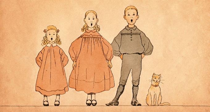 Illustration från häfte 3 av Sjung med oss, Mamma!