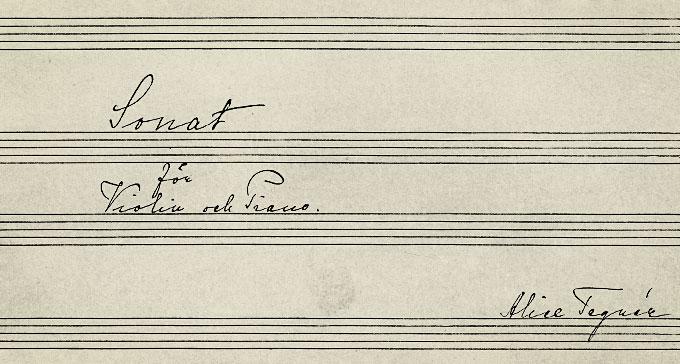 Från titelsidan till Alice Tegnérs Sonat för violin och piano.