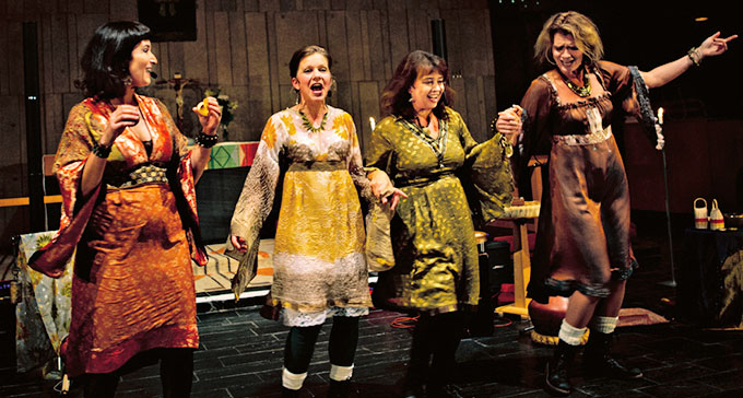 Tetra är en av de grupper som uppträder på årets Folk- och världsmusikgala i Umeå. Foto: Pressbild/Folk- och världsmusikgalan