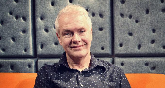Mats Lindström är studiochef för Elektronmusikstudion, EMS, som i år fyller 50 år. Foto: Sara Reinholtz