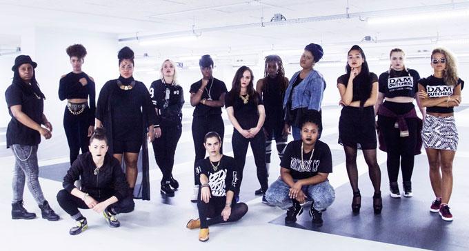 Femtastic och Dam Dutchess har samarbetet FAM/Female Urban Exchange. Foto: Pressbild