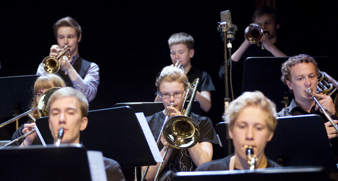 Arctic Youth Jazz Orchestra. Foto: Anders Malm