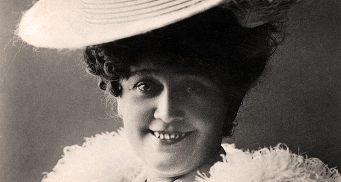 En operett av Helfrid Lambert finns bland fynden. Foto: Musik- och teaterbibliotekets arkiv