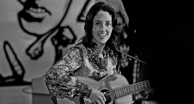 Singer-songwritern Joan Baez i Hamburg 1973. Foto: Heinrich Klaffs (CC/Flickr)