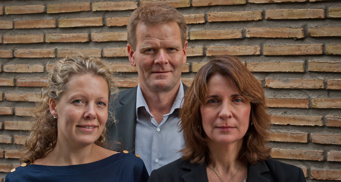 Lisa Sand, Jonas Burman och Isabel Thomson.