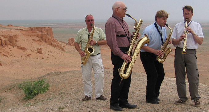 Stockholms Saxofonkvartett. Foto Ulrika Ljungberg