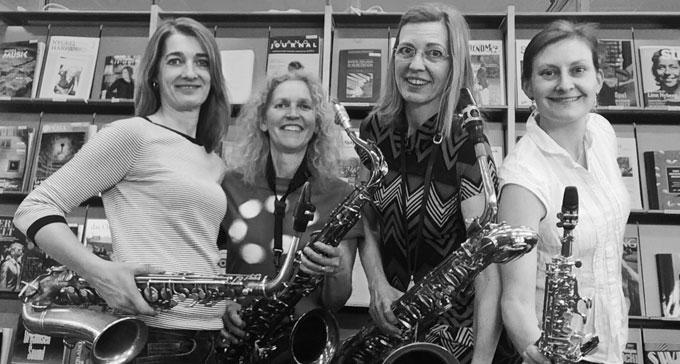 Anna Sundblad, Anna Hedar, Marianne Högberg och Cecilia Pereswetoff Morath