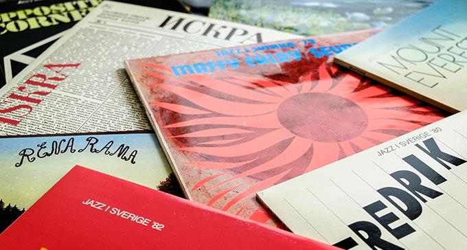 Jazz i Sverige-serien gavs ut mellan 1972 och 2010. Foto: Jonas André