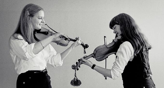 O'tôrgs-Kaisa Abrahamsson och Marica Andersson, 1982. Foto: Torbjörn Ivarsson