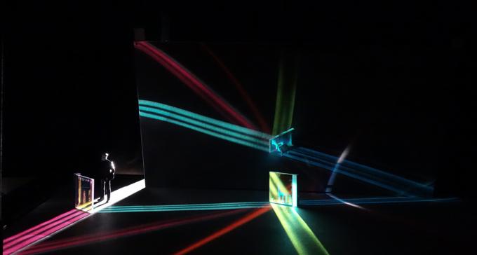 Konstnären Yoko Seyama, tonsättaren Benjamin Staern och dirigenten Christian Karlsen har skapat verket Saiyah. Foto: Föreningen Kammarmusik NU