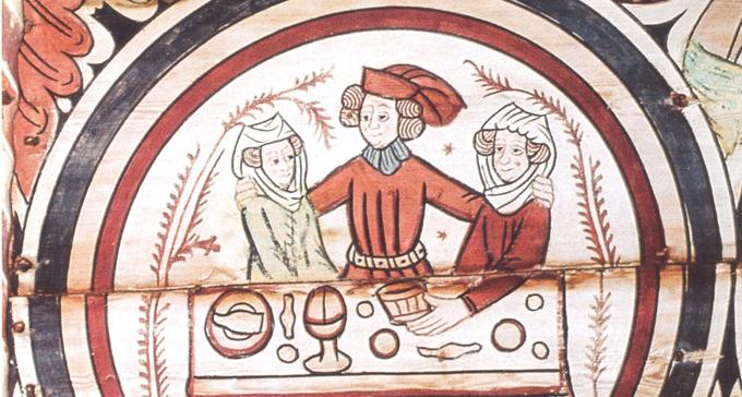 Tryck från medeltida ballad.