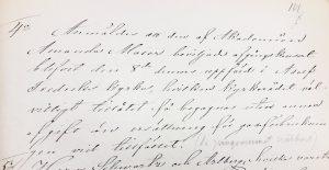 §4 Anmäldes att den af Akademien Amanda Maier beviljade afgångskonsert den 8de dennes uppförd i Adolf Fredriks kyrka, hvilket kyrkorådet välvilligt tillåtet få begagnas utan annan afgift än ersättning för gasförbrukningen vid tillfället.